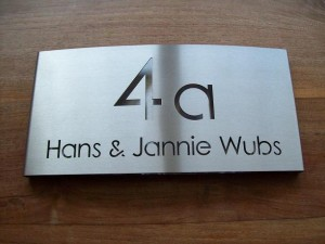 HuisnummerGigant A-02 naambord 21