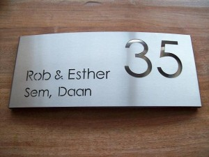 HuisnummerGigant A-02 naambord 7