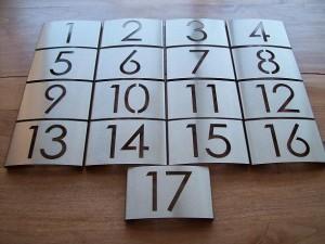 RVS hotelkamer nummerborden
