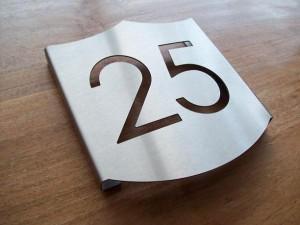 RVS huisnummerbord 'schild'