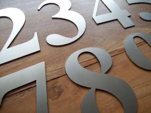 RVS lasergesneden cijfers en letters